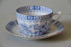 Seltmann Weiden China Blau Tasse & Untere Gedeck