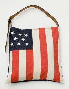 MADEBYHANK American flag tote <3