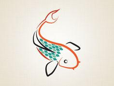 Working on a Koi fish mark to be used as part of the logo on a pond builder website. (Work in Progress) #logo