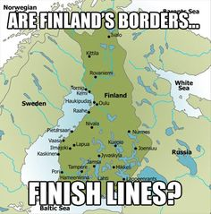 Finland's Borders… // funny pictures - funny photos - funny images - funny pics - funny quotes - Funny Shit, The Funny, Hilarious, Funny Stuff, Funny Things, Daily Funny, Nerd Stuff, Random Stuff, Punny Puns
