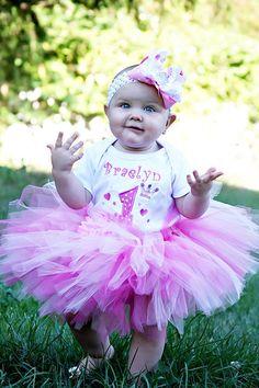 Party Princess Personalized Birthday Tutu Set