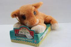 NEW-1998-The-Lion-King-Simba-039-s-Pride-Purring-Kiara-Working-Stuffed-Animal-Toy