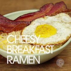Cheesy Breakfast Ramen