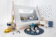 The coolest  kids bed EVER! + Great tips for transforming a boring kids room into a stylish and playful space