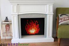 Make an 8-Bit Video Game Fireplace Insert
