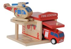 Fire Station Puzzle Blocks #toys #wooden toys #ecotoys