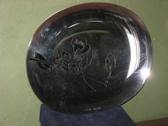 Vintage bowl with floral engraves