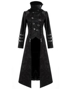 """Long Manteau Veste Gothique Visual Mixte - how many more words for """"Long black coat"""" do you need? Ahhhh my Goth memories here. Costume Steampunk, Steampunk Coat, Steampunk Outfits, Gothic Steampunk, Steampunk Clothing, Steampunk Fashion, Gothic Coat, Renaissance Clothing, Victorian Gothic"""