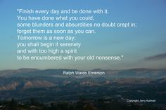 #RalphWaldoEmerson, always worth a second quote, this, appropriately, over early morning #Fallbrook looking west toward Rock Mountain.