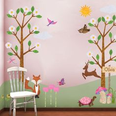 My Girls would Love a room with wall stickers like these #NewYearNewRoom