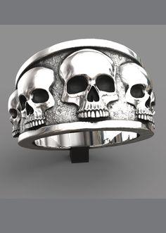 b0dac11997a0 Skull Rings - John Patrick Jewellery. Silver Skull RingMens ...