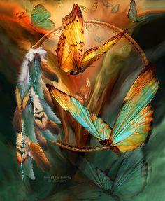 Dream Catcher - Spirit Of The Butterfly Mixed Media - Dream Catcher - Spirit Of The Butterfly Fine Art Print ♥♥♥