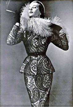 Pierre Balmain paisley, 1950