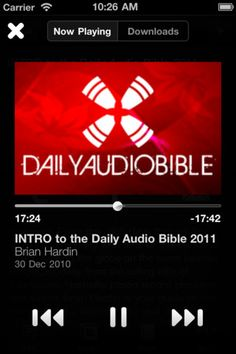 Daily Audio App. Listen each day. Not my favorite English translation, but I I like concept. Should be more of these.