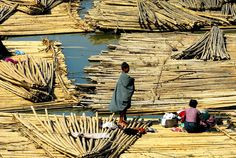 BAMBOO RAFT ON LAY MRO RIVER  Lay Mrois a river on the side of which is the ancient Arakan kingdom, Mrauk-U Township, in Rakhine state, Myanmar situated. The meaning of Lay Mro in Rakhine Language is four cities and it represents the four ancient rakhine cities flourished by the side of river.