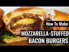 Here's How You Make Mozzarella-Stuffed Bacon Burgers