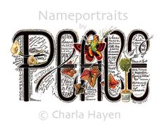 Peace Greeting Card by nameportraits on Etsy