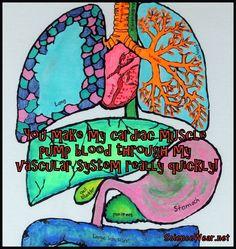 Science Fun! Make it, wear it, love it. http://sciencewear.net/guts-organization.html