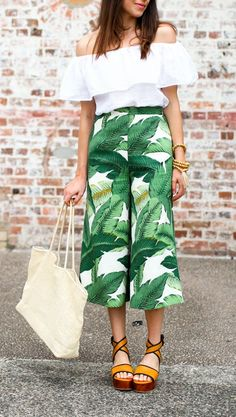 A pair of tropicana wide pants to make every head turn and gasp in wonder