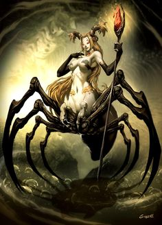 Spider Witch by *GENZOMAN in http://genzoman.deviantart.com/gallery/?offset=384#/d1navwa