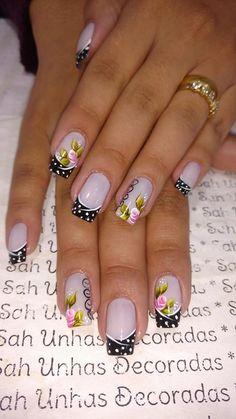 26 Ideias de Unhas decoradas Francesinhas Manicure E Pedicure, Mani Pedi, Glam Nails, My Nails, French Polish, Wedding Nails, Nail Care, Acrylic Nails, Nail Designs