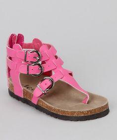Fuchsia Zoe Gladiator Sandal for lil girls on #zulily http://www.zulily.com/invite/mmorten237