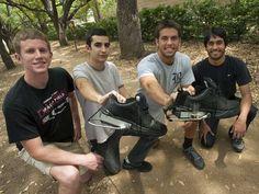 PediPower Shoes, tênis que transforma movimento dos pés em energia elétrica, apresentado pela equipe que o criou