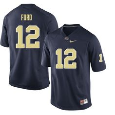 73ecf536cde Men #12 Paris Ford Pittsburgh Panthers College Football Jerseys Sale-Navy  Basketball Rules,