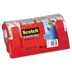 Scotch 3850 Heavy Duty Packaging Tape, 1.88Inx54.6Yards, Clear, 4/Pk Mmm38504Rd