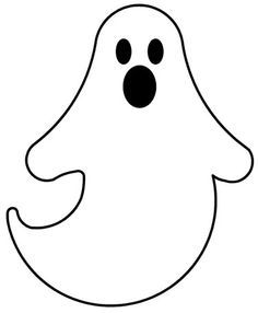 Halloween Ghost Cut Out Template