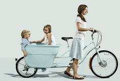 "Madsen Bikes are so awesome! Based out of Salt Lake City, Madsen makes cargo bikes that are designed to carry anything from kids to groceries. The ""giant bucket on the back"" is a pretty simple concept, but so smart for people who live in cities and need to be able to haul stuff without a car."