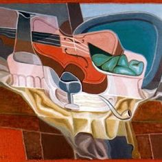 Juan Gris (1925): La mesa y silla.  Kunstmuseum.  Solothurn.