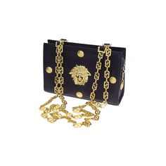 Vintage Gianni Versace Couture Chain Bag With Medusa. Carissa Gold 49a50c4348