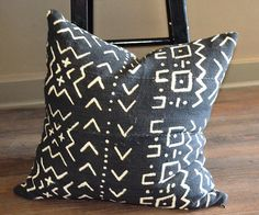 18 African Mudcloth Pillow Decorative by AvAFluffAndStuff on Etsy
