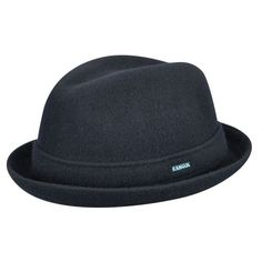 The Wool Player is a clean looking, very wearable trilby with an integral band and stingy brim that can be worn up or down. The Player has become the most popular Kangol trilby shape. The seamless, knitted and blocked construction is purely a Kangol innov Stylish Hats, Newsboy Cap, Hats Online, Cool Hats, Mens Caps, Hats For Women, Mens Fashion, Wool, My Style