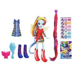 My Little Pony Equestria Girls Deluxe Doll - Rainbow Dash: Amazon.co.uk: Toys & Games