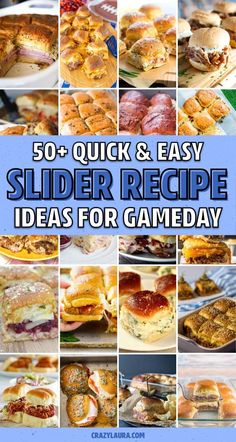 If you're in need of a quick and easy slider recipe, then you need to check out this ultimate collection of recipe ideas! Whether you need something for gameday crowd or just a simple appetizer to bring over to the party, you'll find it here Turkey Burger Sliders, Roast Beef Sliders, Pulled Pork Sliders, Easy Meal Prep, Quick Meals, Yummy Snacks, Yummy Food, Yummy Recipes, Cheap Finger Foods