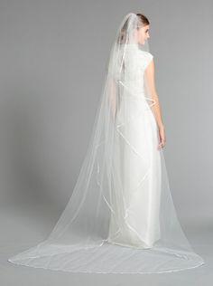 Nina Women's Elise Cathedral Veil, White,