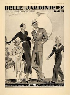 1934 French Ad Fashion B...