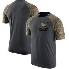 Tennessee Titans Nike Salute to Service Performance Raglan T-Shirt - Anthracite