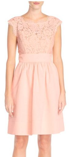 Pink lace & faille dress