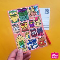 Desi Cupboard Essentials Postcard #postcard #snailmail #indian #desi #indianfood #desicupboardessentials #theplayfulindian A6 Size, Size 10, Life Is Tough, Reusable Grocery Bags, Funny Mugs, You Funny, Gifts For Family, Cupboard, Desi