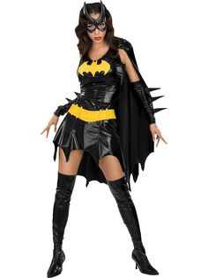 Get this adult Batgirl fancy dress costume by for express delivery. Buy Superhero costumes, Batgirl costumes and Batman costume from largest online store. Superhero Halloween Costumes, Batman Halloween, Batman Costumes, Girl Costumes, Adult Costumes, Costumes For Women, Adult Halloween, Costume Ideas, Bat Costume