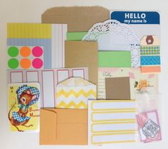 Stationery Grab Bag for Snail Mail, Happy Mail, Mail Art, letter writing, and packaging by madeiracrafts