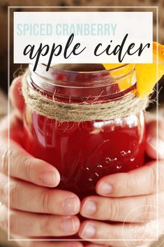 Sweet, tart, spiced and warm. Easy Drink Recipes, Tea Recipes, Coffee Recipes, Dinner Recipes, Cranberry Dessert, Cranberry Recipes, Homemade Tea, Food Stamps, Apple Cider