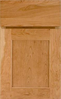 Park Place Flat Panel - Available in Maple, Cherry, Oak, Rustic Maple, Knotty Alder and Hickory. Shown in Cherry with a Natural finish.