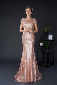c0e1ea32c11 Rose Gold Sequin Mermaid Bridesmaid Dress. Fuschia Bridesmaid  DressesBridesmaidsProm ...