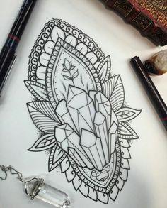 Mandala crystal tattoo