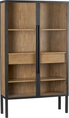 "Warner 2-Door Cabinet in Storage Cabinets | Crate and Barrel | sku 386243 | 44"" x 15.25"" x 76"" 