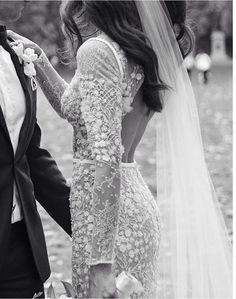 FOR THE DRESS    Long sleeve, low back, embellished with beading by JANE HILL BRIDAL    NOVELA BRIDE...where the modern romantics play & plan the most stylish weddings.... www.novelabride.com @Novela #jointheclique #novelabride